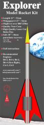 Explorer Model Rocket Kit Front Card