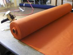 Rolls of NOMEX ready to be cut