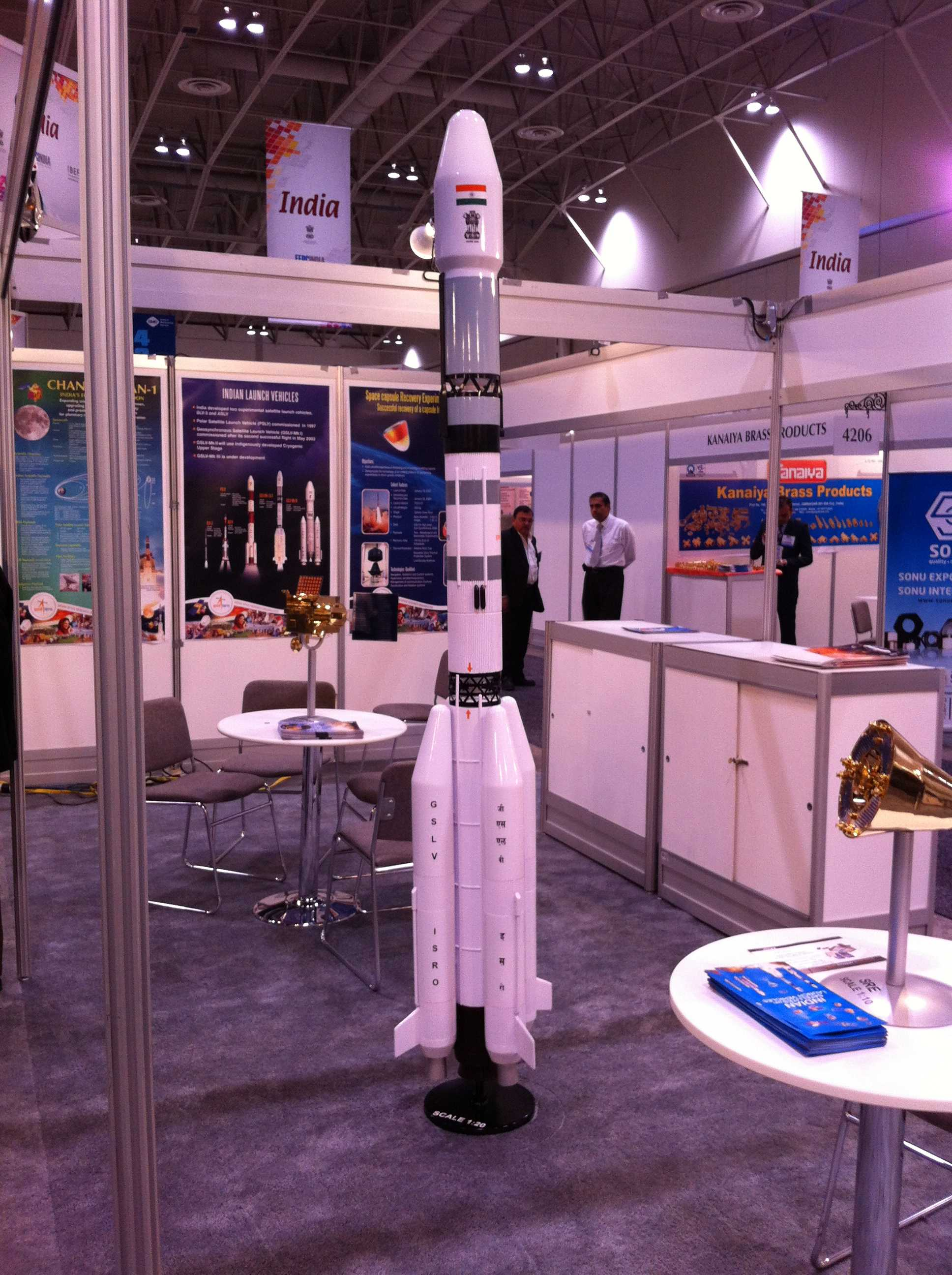 Manufacturing Show Models Indian Space Research Organization model