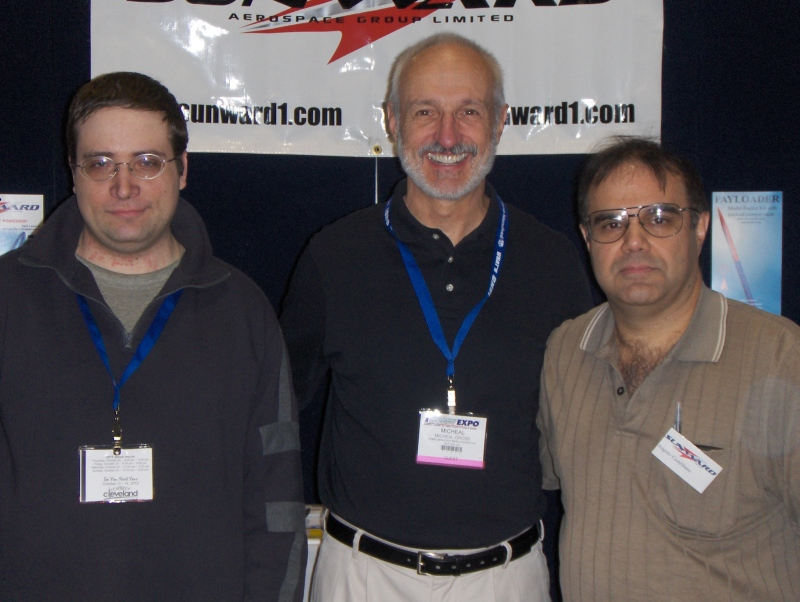 Micheal Gross with Tim Macleod and Angelo Castellano