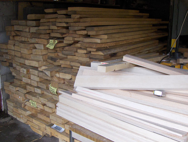 Basswood ready to be used in siege engines
