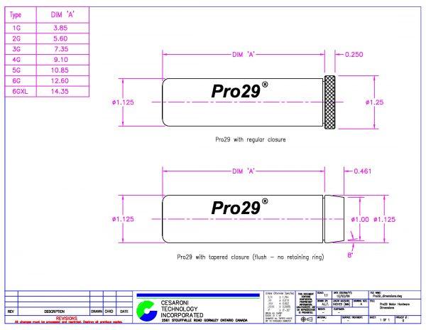 CTI Pro29 dimensions