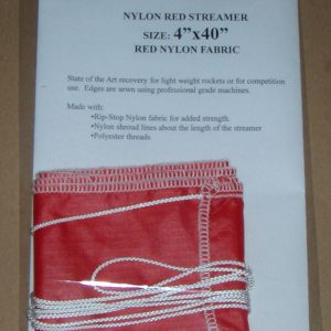 Red Nylon Ripstop Streamer