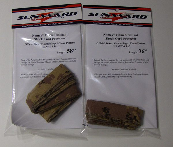 NOMEX Camouflage Camo Shock Cord Protectors for Rocket Kits
