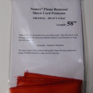 NOMEX Orange 6.5oz Shock Cord Protectors for Rocket Kits