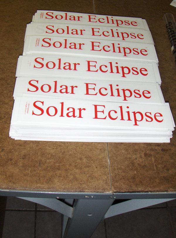 Solar Eclipse Decals Pile