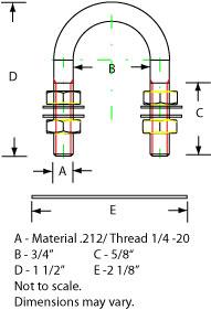 Compact 1/4 Ubolt dimensions